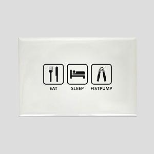 Eat Sleep Fistpump Rectangle Magnet