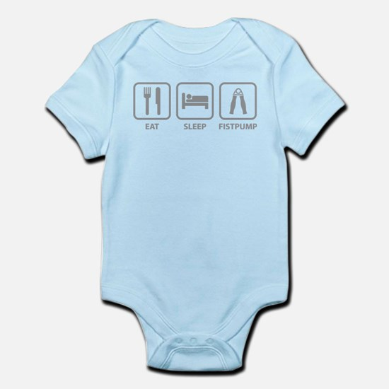Eat Sleep Fistpump Infant Bodysuit
