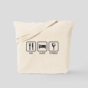Eat Sleep Fitness Tote Bag