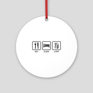 Eat Sleep Jump Ornament (Round)