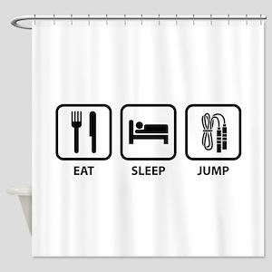 Eat Sleep Jump Shower Curtain