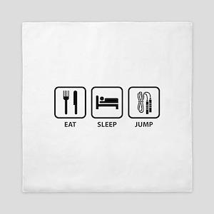 Eat Sleep Jump Queen Duvet
