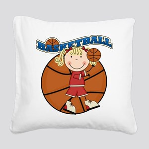 basketballkidfour Square Canvas Pillow