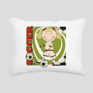 kidsoccertwo Rectangular Canvas Pillow