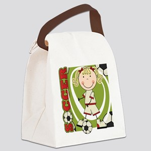 kidsoccertwo Canvas Lunch Bag