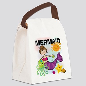 KPMDOODLESBRUNMERM Canvas Lunch Bag