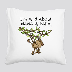 KPMDOODLESwilddNANAPAPA Square Canvas Pillow