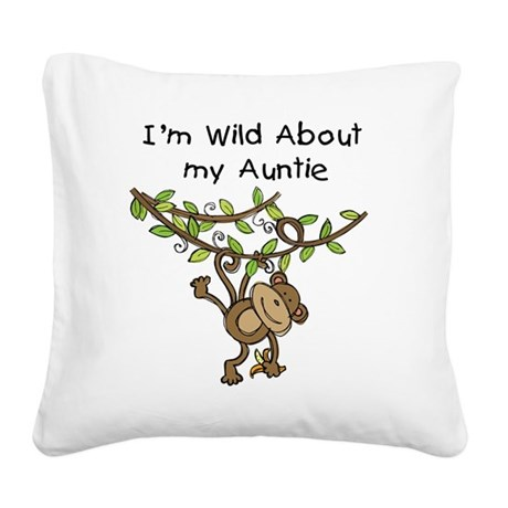 KPMDOODLESwilddauntie.png Square Canvas Pillow