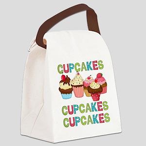 cupcakestimesthree Canvas Lunch Bag