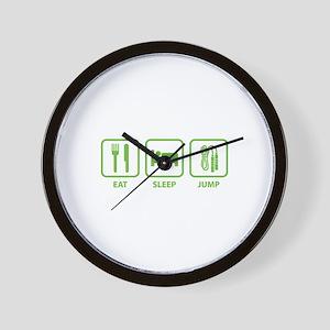 Eat Sleep Jump Wall Clock