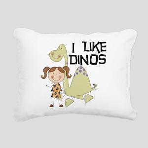 LIKEDINOS Rectangular Canvas Pillow