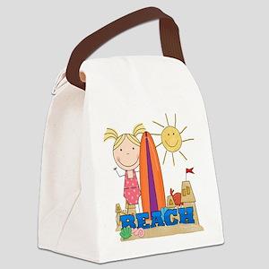 123BEACHGIRL2 Canvas Lunch Bag