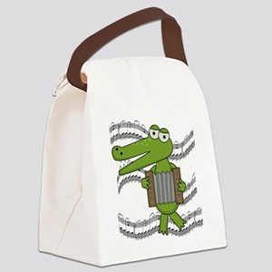 ALLIGATORACCORDION Canvas Lunch Bag