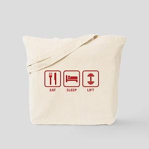 Eat Sleep Lift Tote Bag