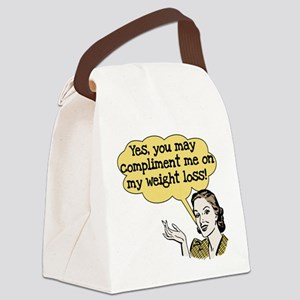 COMPLIMENTWEIGHTLOSS Canvas Lunch Bag