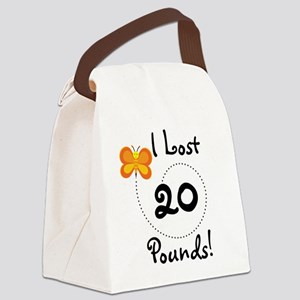 BUTFLY20POUNDS Canvas Lunch Bag