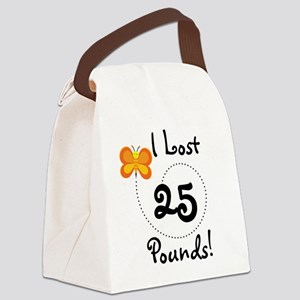 BUTFLY25POUNDS Canvas Lunch Bag