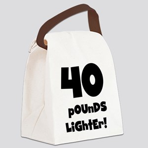 40LIGHTERBLACK Canvas Lunch Bag