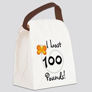 BUTFLY100POUNDS Canvas Lunch Bag