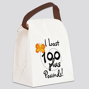 BUTFLY100plusPOUNDS Canvas Lunch Bag