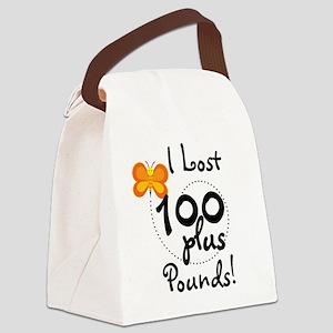 BUTFLY100plusPOUNDS Canvas Lunch Bag