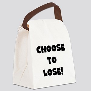 CHOOSELOSEBLACK Canvas Lunch Bag