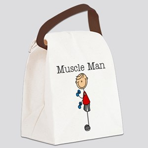 Muscle Man Canvas Lunch Bag