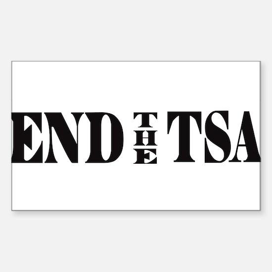 END THE TSA Sticker (Rectangle)