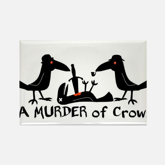A Murder of Crows Rectangle Magnet