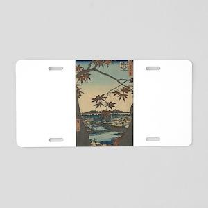 Maple trees at Mama - Hiroshige Ando - 1857 Alumin