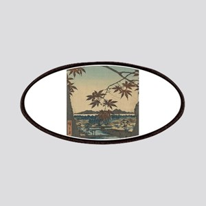 Maple trees at Mama - Hiroshige Ando - 1857 Patch