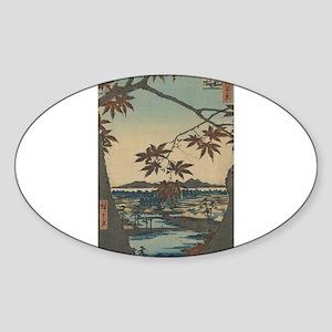 Maple trees at Mama - Hiroshige Ando - 1857 Sticke