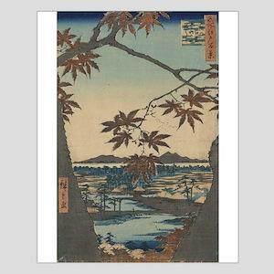 Maple trees at Mama - Hiroshige Ando - 1857 Poster