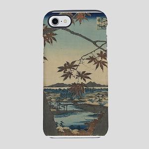 Maple trees at Mama - Hiroshige Ando - 1857 iPhone