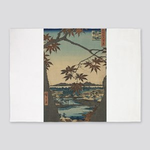 Maple trees at Mama - Hiroshige Ando - 1857 5'x7'A