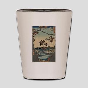 Maple trees at Mama - Hiroshige Ando - 1857 Shot G