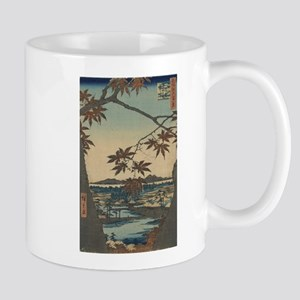 Maple trees at Mama - Hiroshige Ando - 1857 Mugs