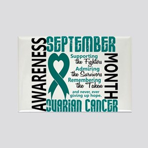 Ovarian Cancer Awareness Month Rectangle Magnet