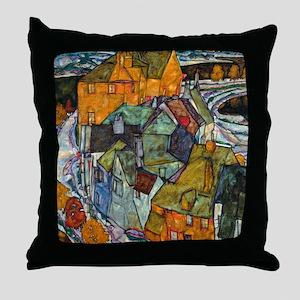 Schiele - Island Town Throw Pillow