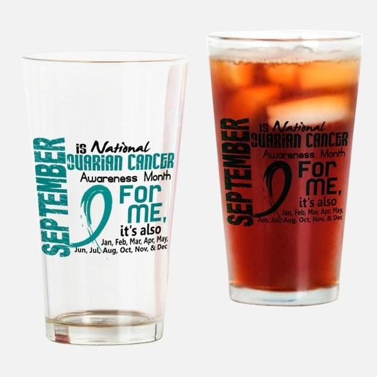 Ovarian Cancer Awareness Month Drinking Glass