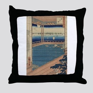 Moon-viewing point - Hiroshige Ando - 1857 Throw P