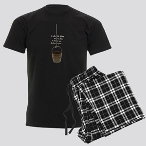 IT RUBS THE LOTION ON ITS SKIN Men's Dark Pajamas