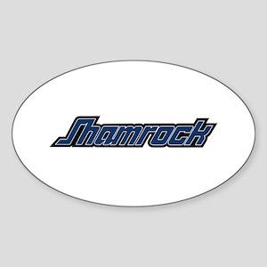 SHAMROCK LOGO 3 BLUE Sticker (Oval)