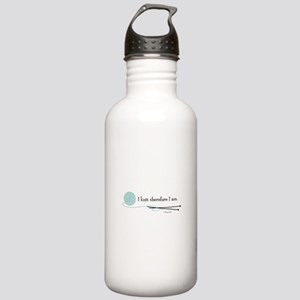 """I Knit Therefore I Am"" Stainless Water Bottle 1.0"