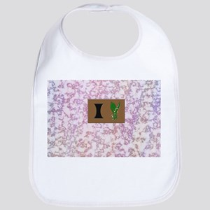 monogram I with lily of the valley Bib