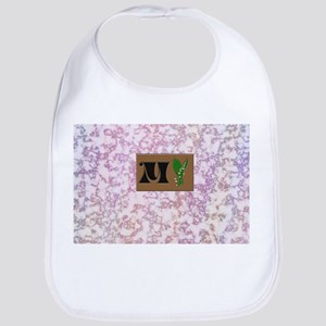 monogram M with lily of the valley Bib