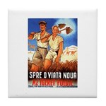 Zionist Film Tile Coaster