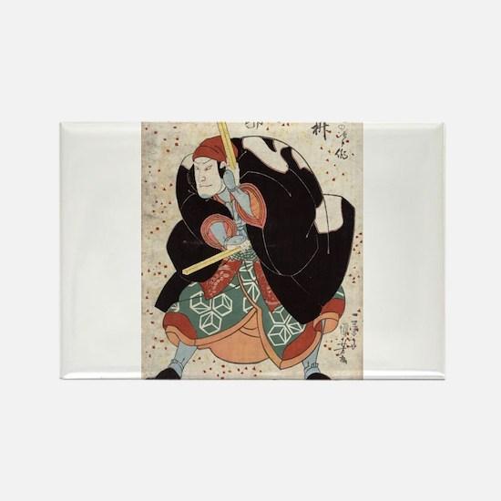 Naniwa Jirosaku - Kuniyoshi Utagawa - 1830 Magnets