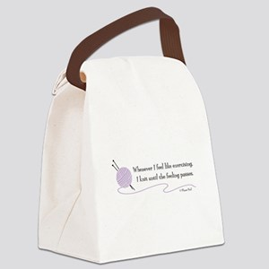 """Whenever I Feel Like Exercising"" Canvas Lunch Bag"