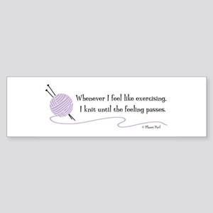 """Whenever I Feel Like Exercising"" Sticker (Bumper)"